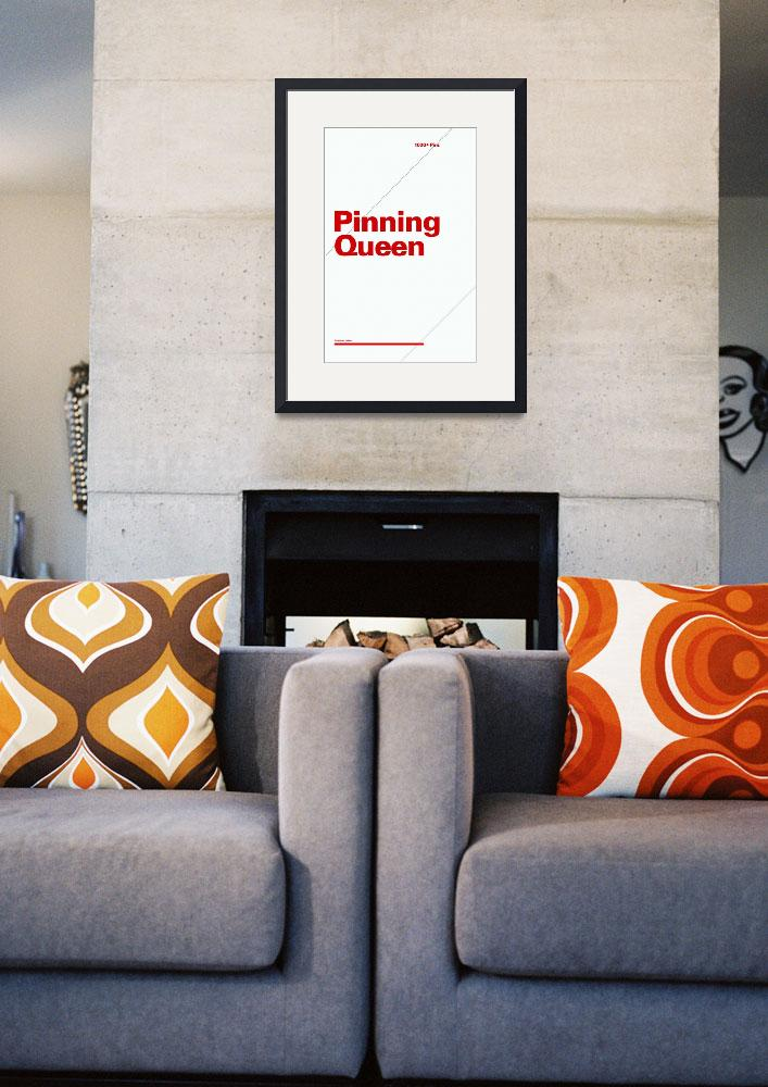 """""""Pinning Queen typographic poster - Gray and Red&quot  (2012) by kken"""