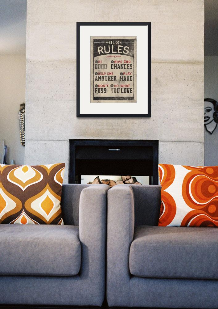 """""""Do What You Love Family Rules Wall Art""""  by KateLillyson"""