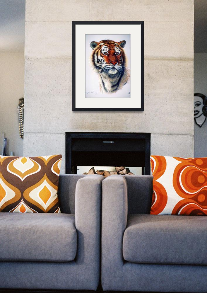 """""""Bengal Tiger Study&quot  by ArtLoversOnline"""