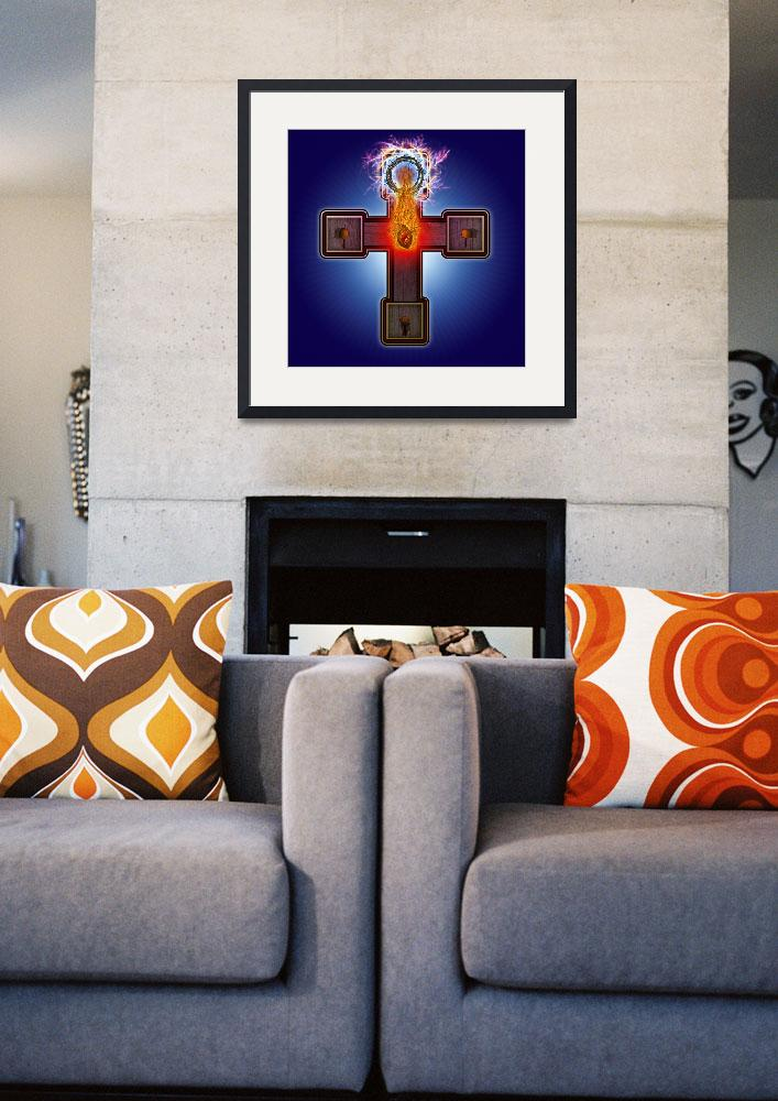 """Atomic Crucifix&quot  (2011) by ATOMICPENCIL"
