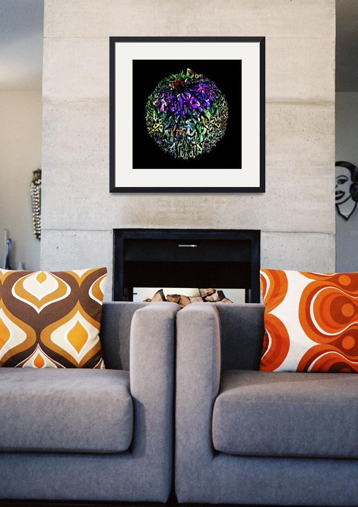"""""""Abstract Cone Flower Digital Painting A262016&quot  (2016) by MasArtStudio"""