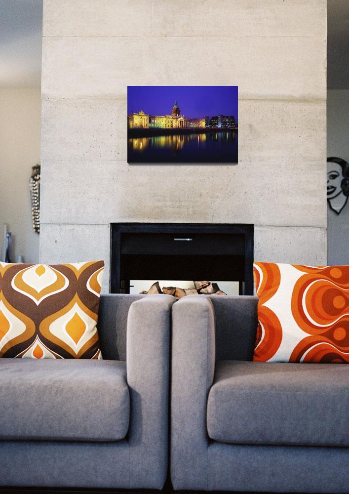 """River Gods Of Ireland On The Custom House, Dublin,""  by DesignPics"