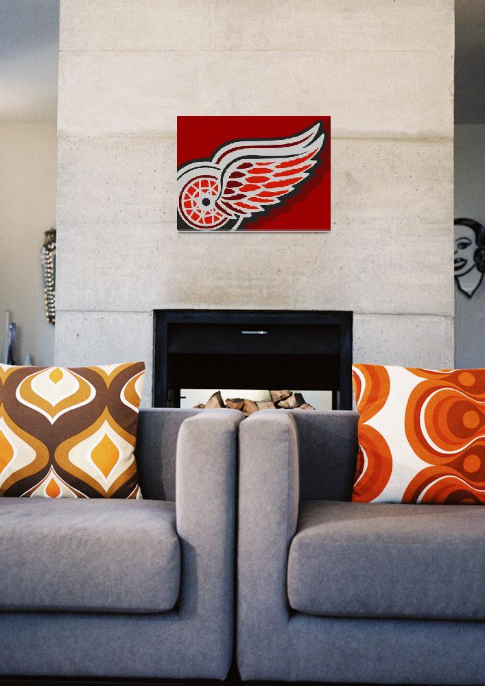 """Detroit Red Wings""  (2015) by RubinoFineArt"