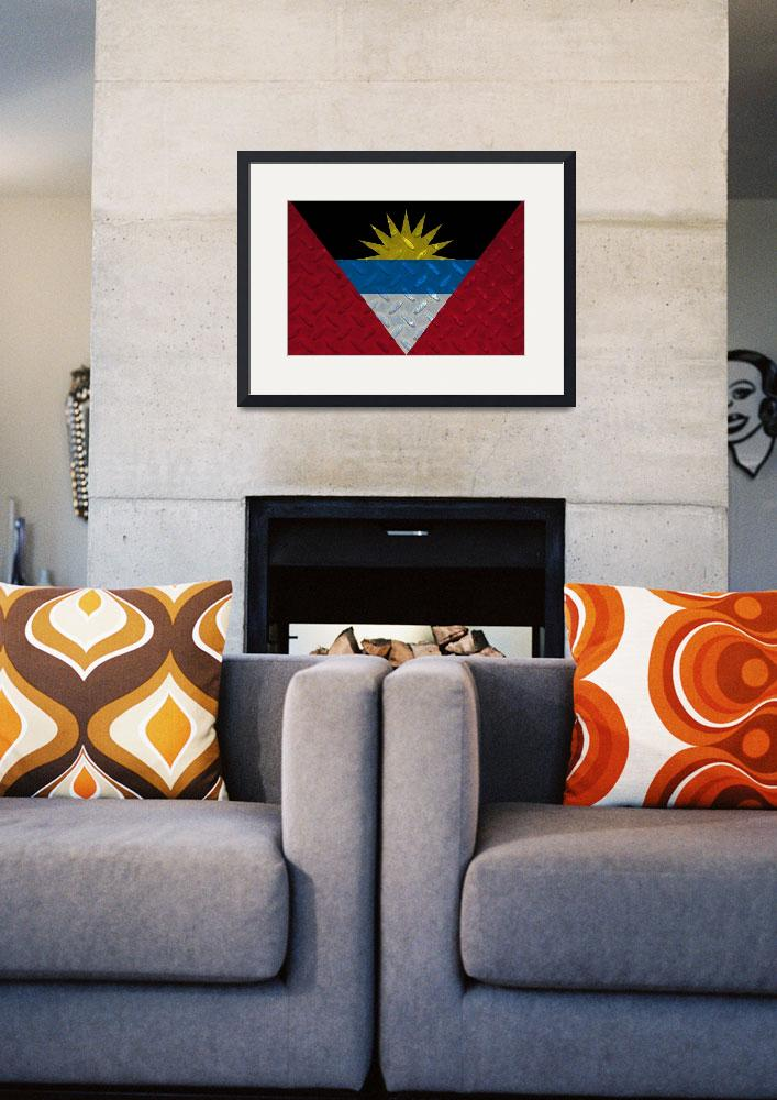 """""""ANTIGUA AND BARBUDA-FLAG 2&quot  (2014) by thegriffinpassant"""