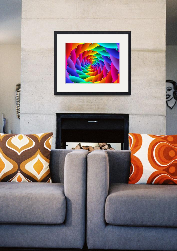 """Psychedelic Rainbow Spiral&quot  (2015) by kittybitty"
