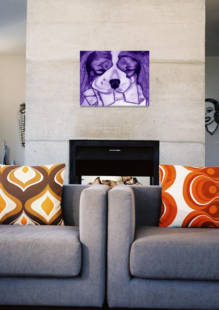 """Purple Cavalier With Bone""  (2009) by CavalierArt"