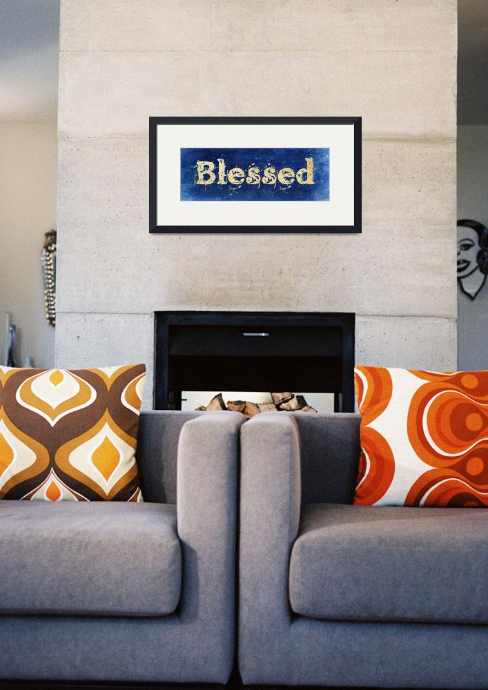 """""""blessed old print blue vintage""""  by lizmix"""