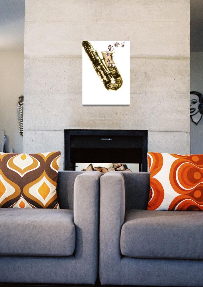 """Shell Collage Sax""  by DennisMash"