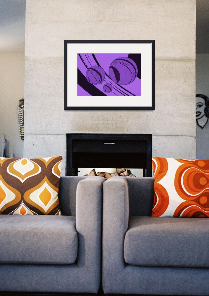 """Spheres Deco Series - Purple""  (2011) by WallArtDeco"