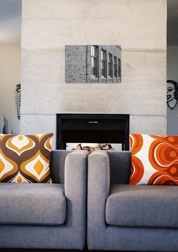 """Nova Scotia Impressions-windows black & white&quot  (2016) by Ralli"
