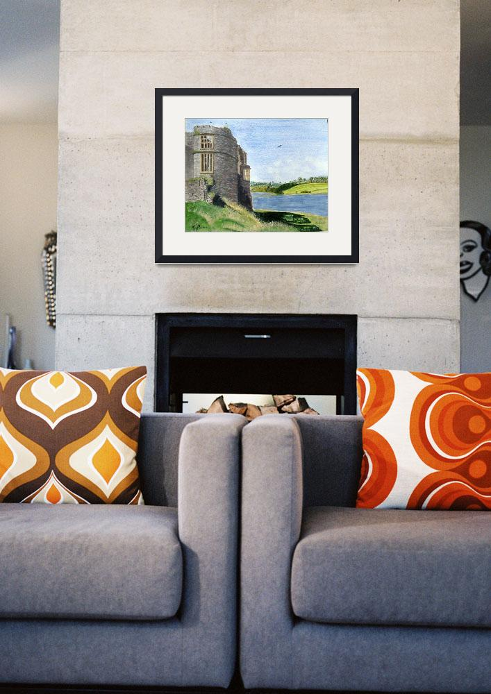 """Carew Castle, Pembrokeshire.&quot  by CParkesCreativePrints"