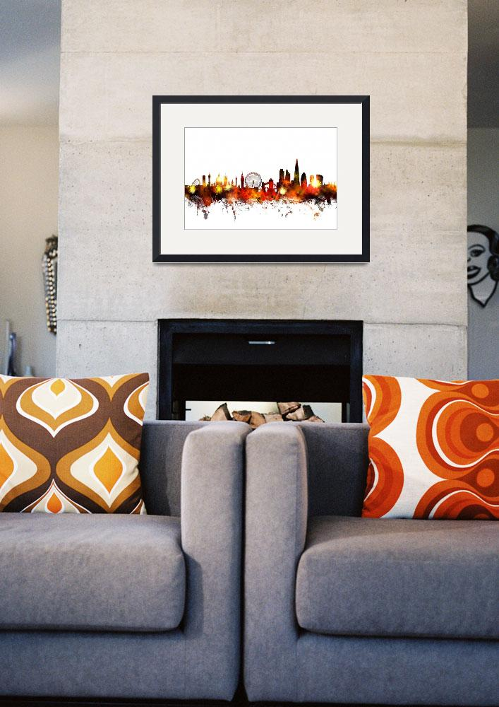 """London England Skyline&quot  by ModernArtPrints"