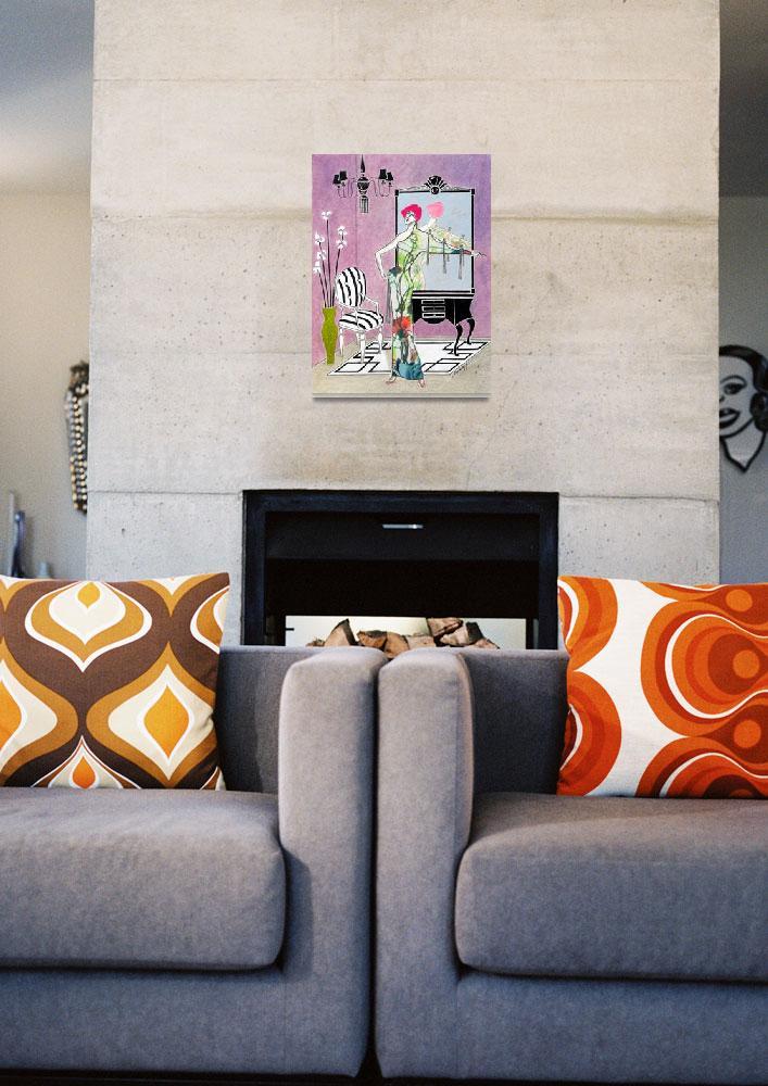 """Erté-esque -- Art Deco""  (2016) by JayneSomogy"