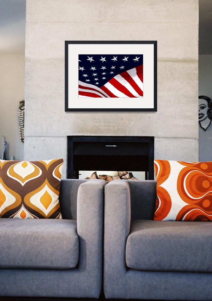 """USA Flag 01""  (2010) by whitewallgallery"