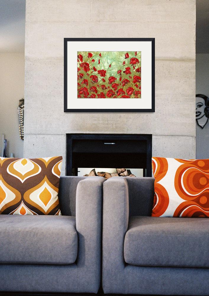 """""""Red Poppies""""  (2010) by modernhouseart"""