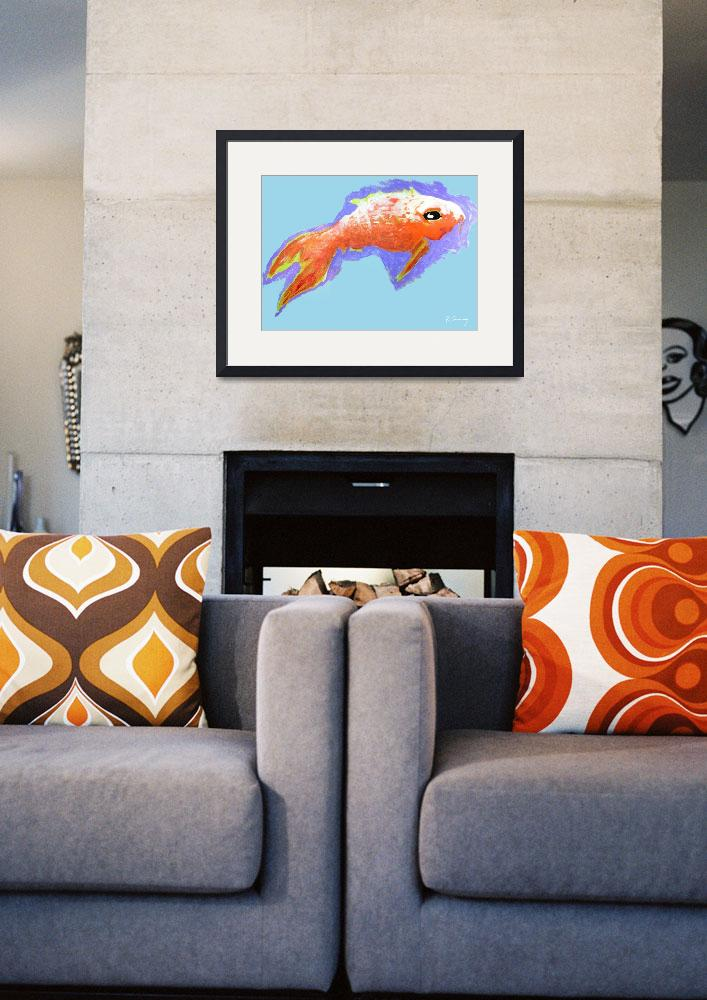 """Peaceful Orange Goldfish&quot  (2000) by rjconway"