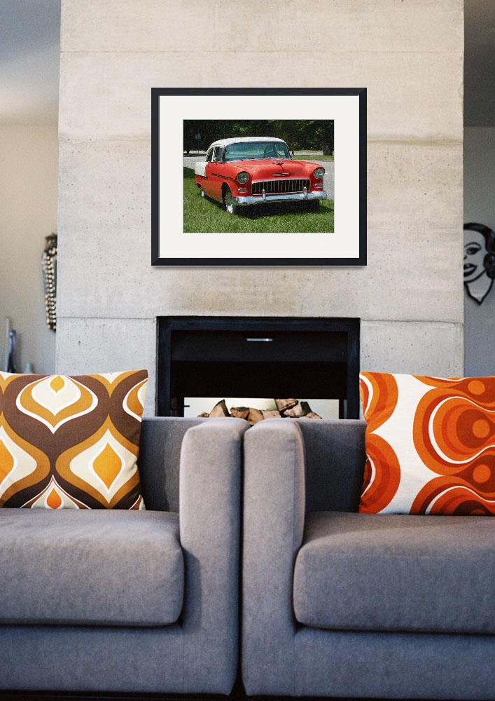 """""""1955 Chevy Bel Air with """"Sponge Painting"""" Effect&quot  (2009) by Ffooter"""