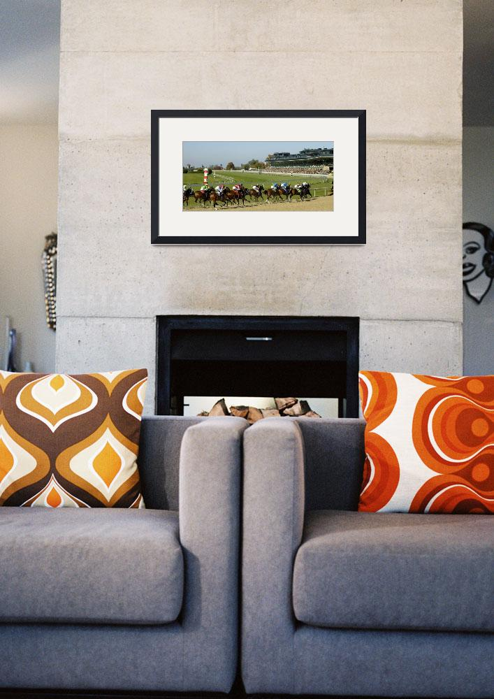 """""""Thoroughbred Horse Race - Stretching Out the Pack&quot  by CooperSlay"""