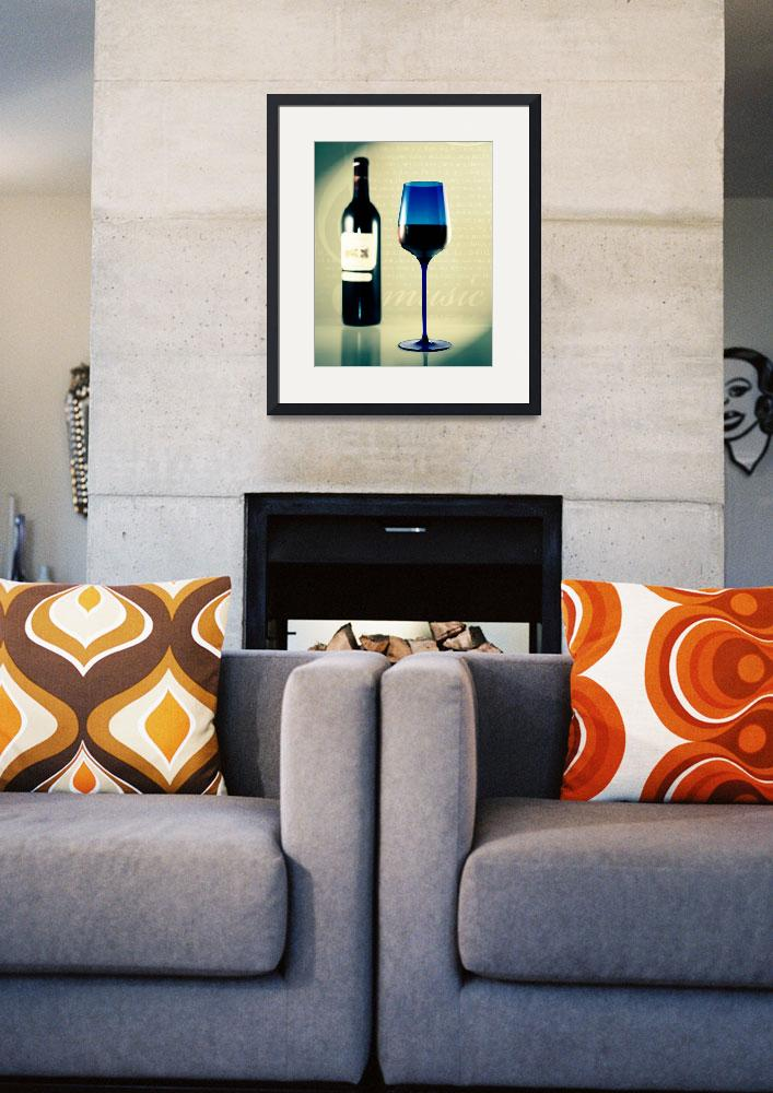 """""""Wine and Blue Glass&quot  (2008) by digitalvisions"""