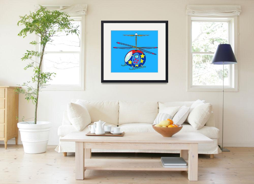 """""""Mikie the Helicopter""""  by magicalview"""