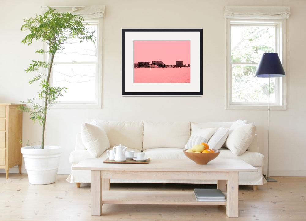 """""""New peachy view of beach&quot  (2013) by SanaKiy"""