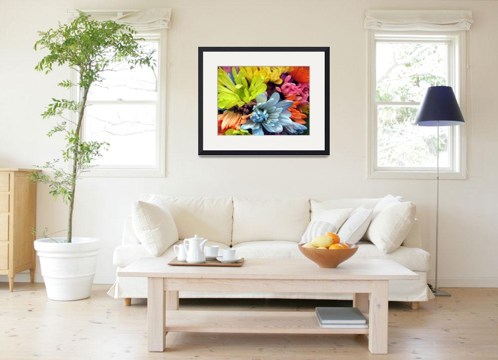 """""""Multi-colored Flowers""""  (2013) by johnscanvassprints"""