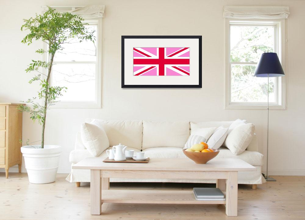 """""""Pink Union Jack""""  by ArtHistory"""