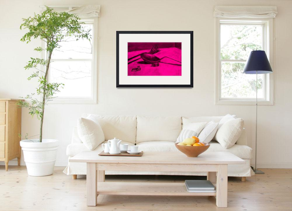 """""""a spoonful of peace and love (pink)&quot  by alansmithart"""