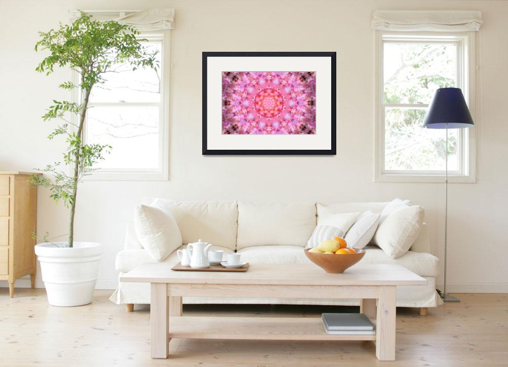"""""""Pink Floral Mandala - 1&quot  (2010) by lightvision"""