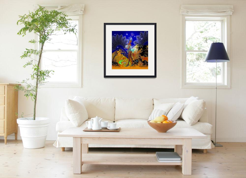 """""""Celebration Showgirl In Blue&quot  (2009) by shanmaree"""