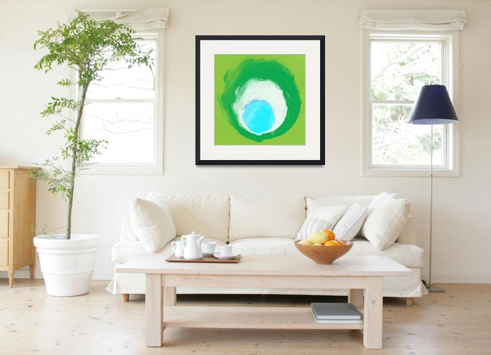 """""""ORL-828 green white aqua&quot  by Aneri"""