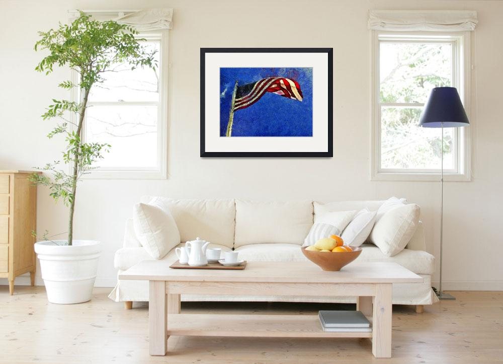 """""""American Flag&quot  (2014) by artbyclaire"""