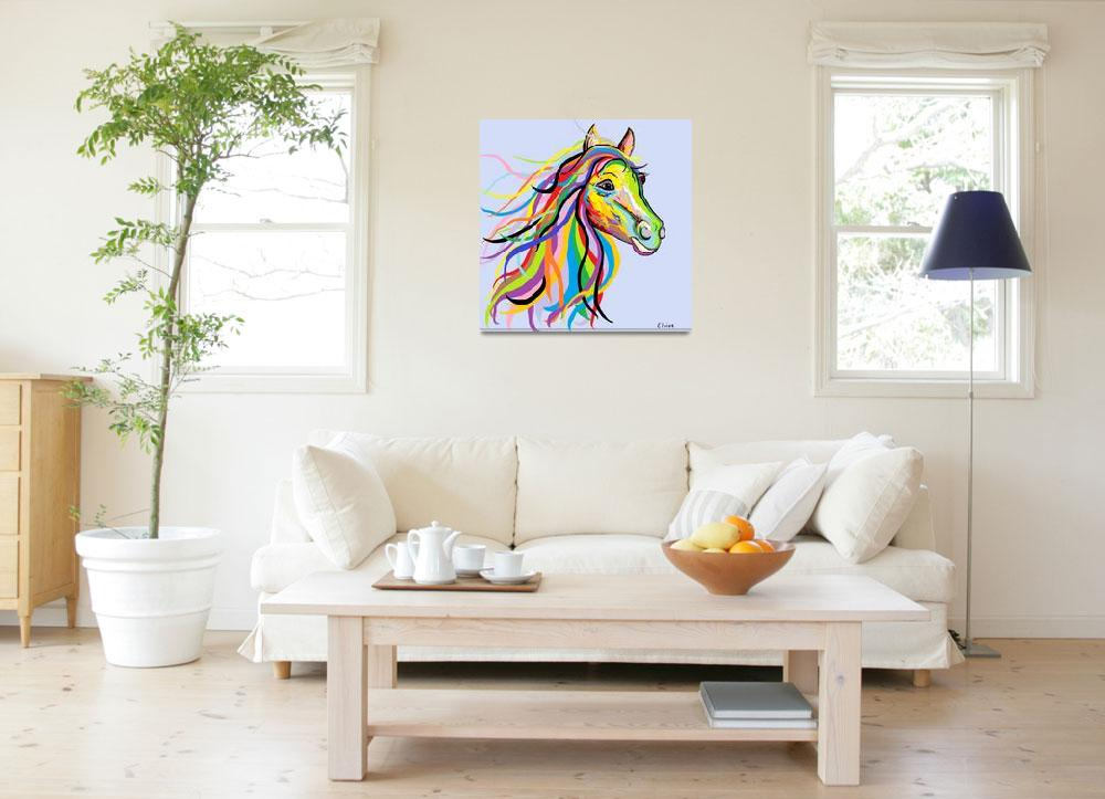 """""""Horse of a Different Color&quot  by EloiseArt"""