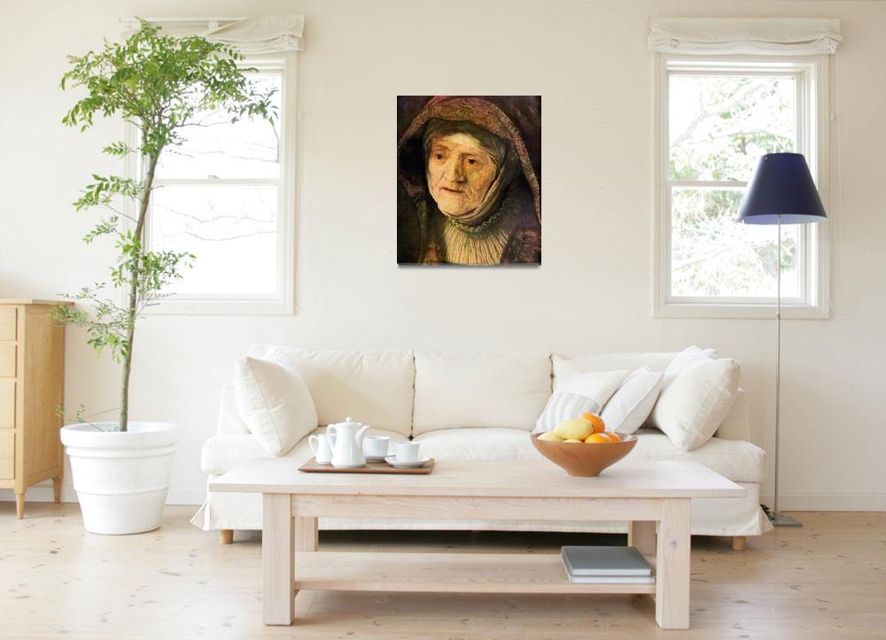 """Portrait of Rembrandts Mother Detail&quot  by ArtLoversOnline"