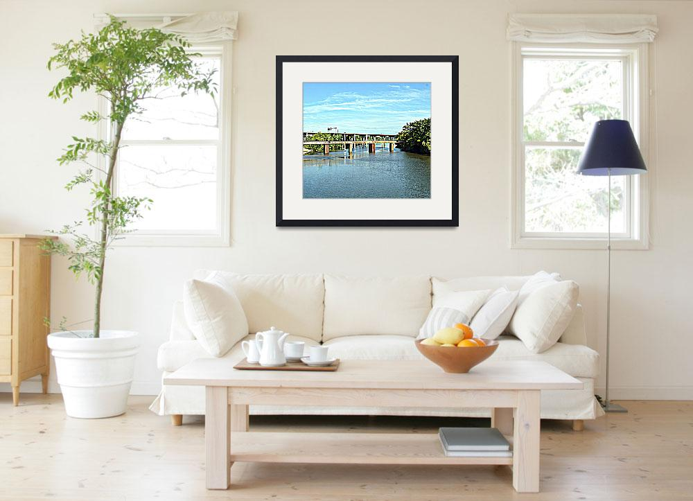 """""""Two James River Bridges, One Old and One New""""  by Artsart"""