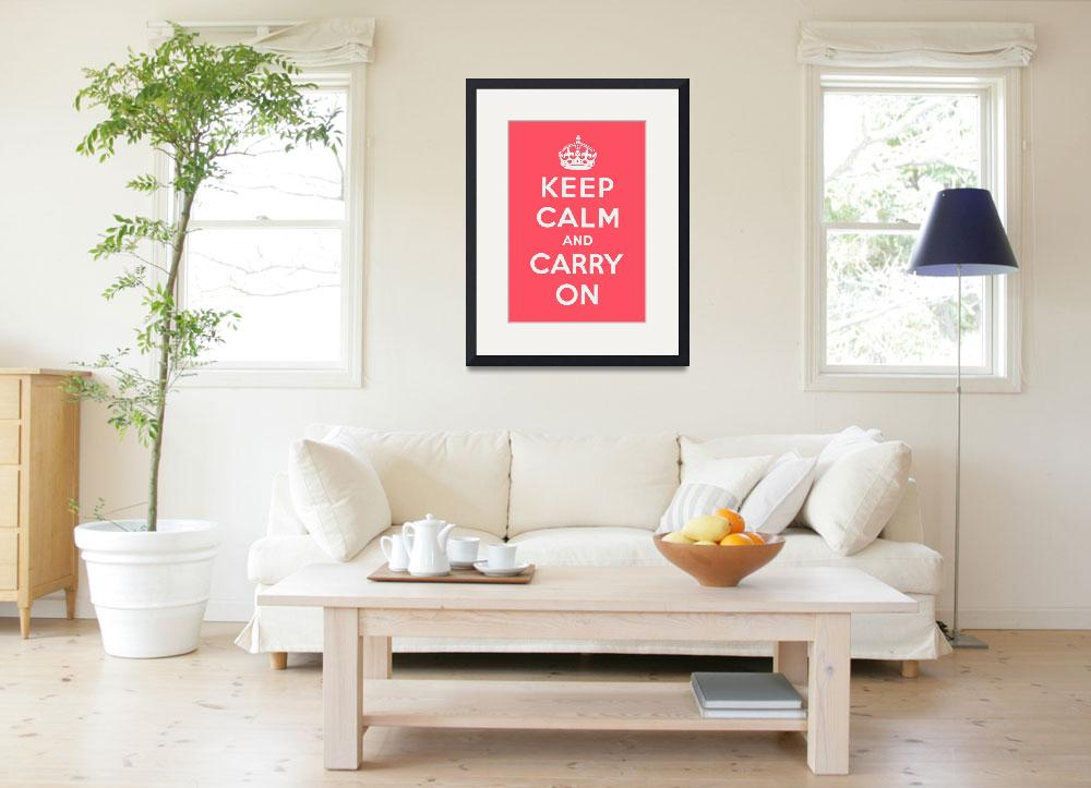 """""""Pink Keep Calm And Carry On&quot  by oldies"""