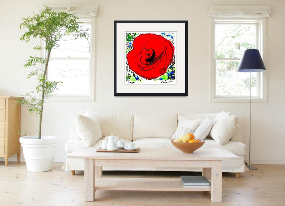 """Red Poppy Flower&quot  (2006) by RDRiccoboni"