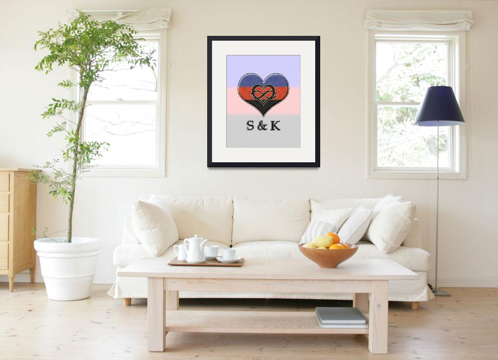 """""""Custom Polyamory Pride S&K Heart&quot  (2015) by LiveLoudGraphics"""
