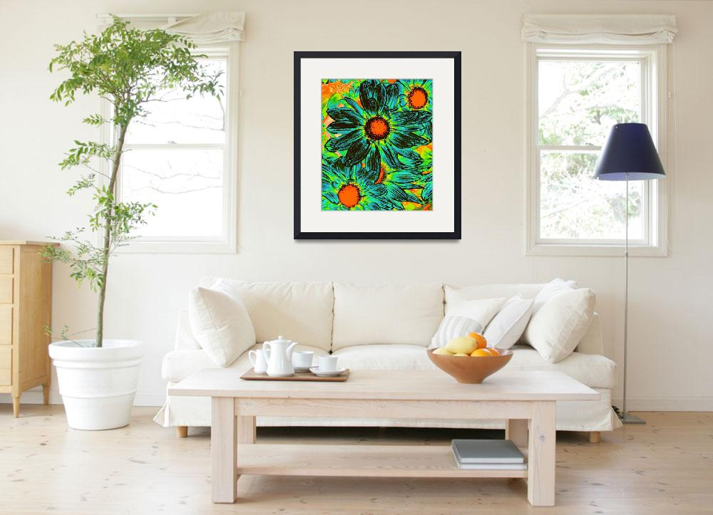 """""""Pop Daisies 17&quot  (2012) by AmyVangsgard"""