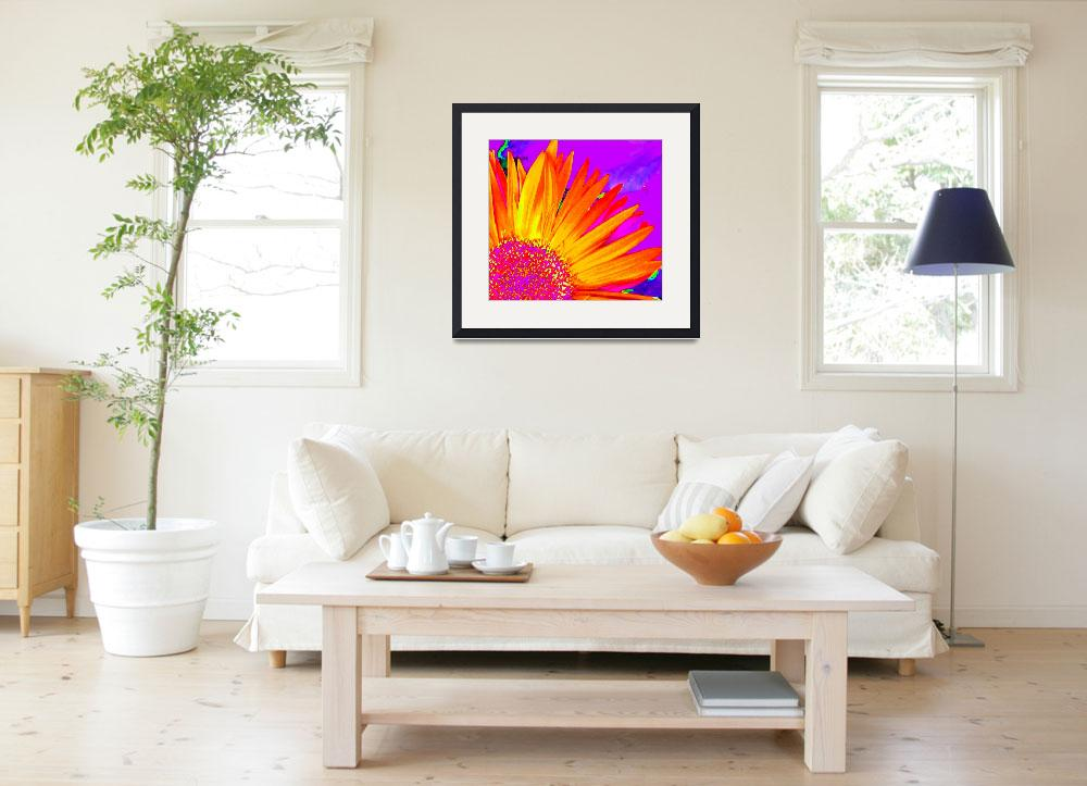 """""""Abstract Flower 1&quot  (2012) by psovart"""