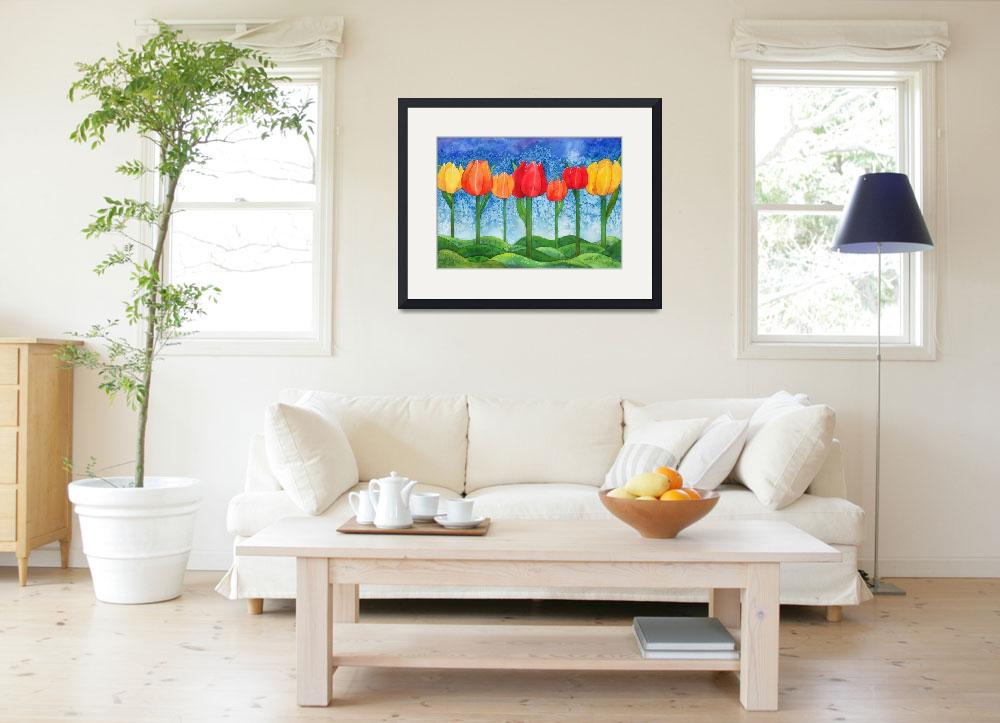 """""""Tulip Trees Watercolor""""  by foxvox"""