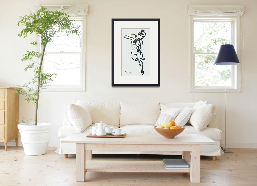 """""""Etching style nude pop art  poster&quot  (2014) by visualharbour"""