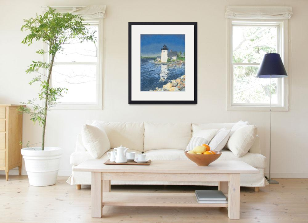 """""""Grindle Point Lighthouse""""  (2003) by dominicwhite"""
