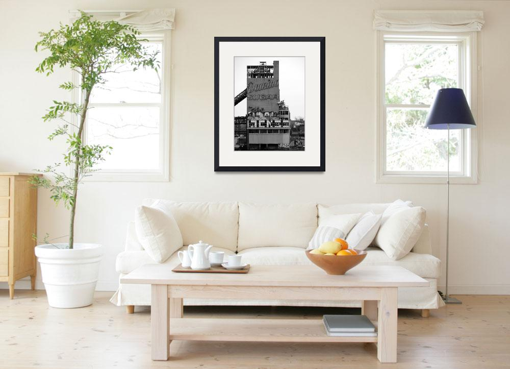 """""""Domino Sugar b+w&quot  (2014) by Peter-A-Kopher"""