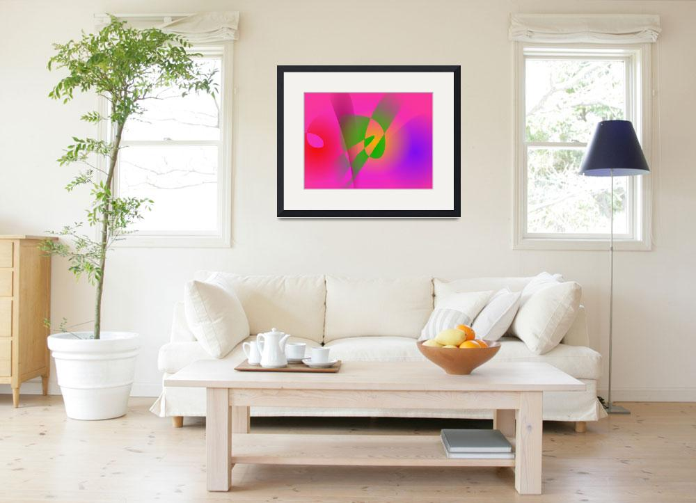 """""""Contrasting Abstract Colors Dark Pink""""  (2014) by masabo"""