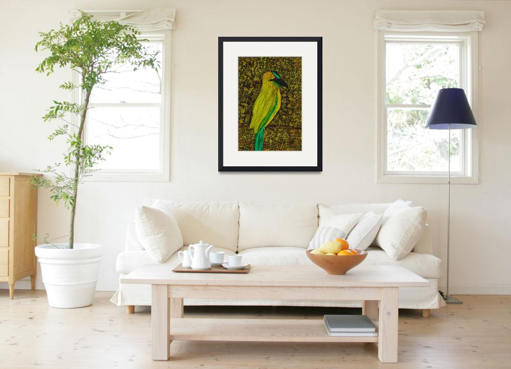 """""""Tropical Bird&quot  (2014) by ILoveAlcoholInk"""