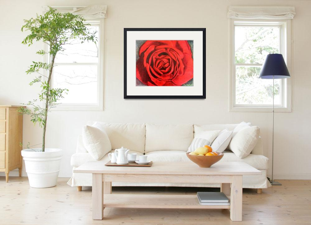 """Red Rose&quot  (2011) by Aubin"