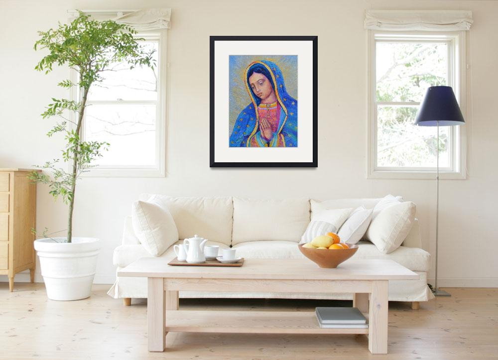 """""""Our Lady of Guadalupe Painting Virgin Mary Art&quot  (2016) by Maggy"""