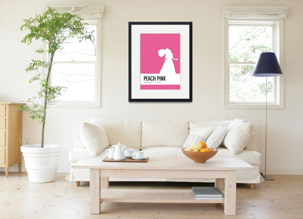 """""""No44 My Minimal Color Code poster Peach&quot  by Chungkong"""