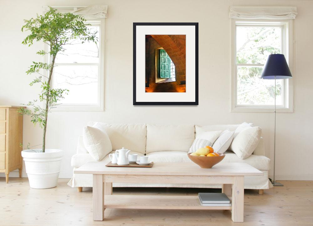 """Monastery Window-Orange and green&quot  (2011) by mjphoto-graphics"